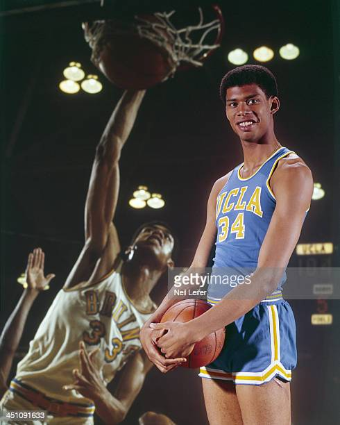 Portrait of UCLA Lew Alcindor with ball during photo shoot Dye transfer of  game action Los cc7ce4ada