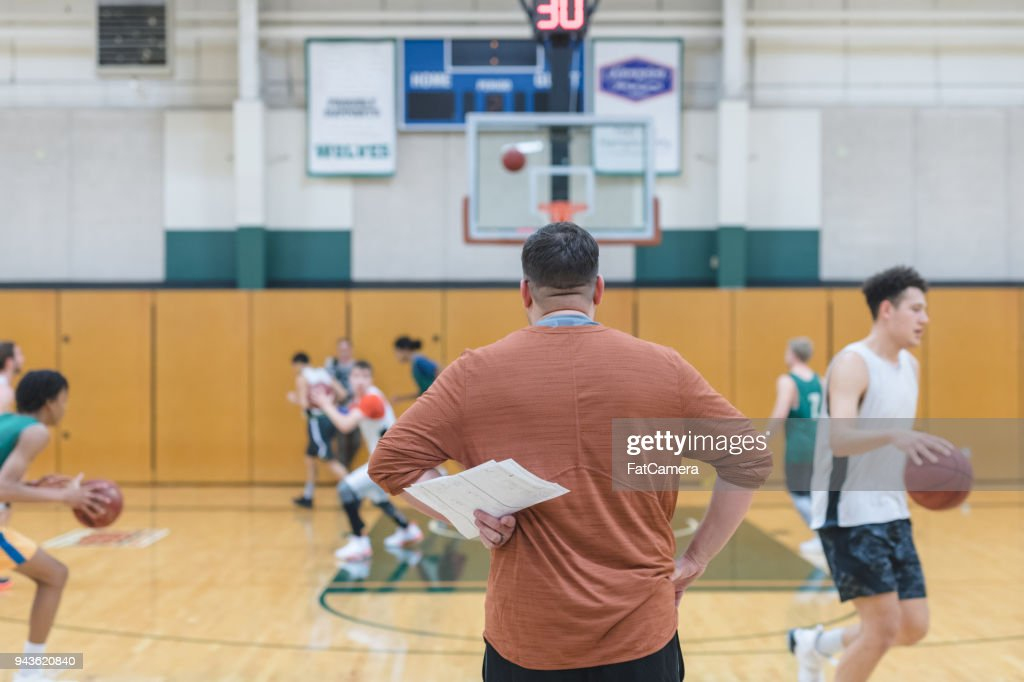 College Basketball Practice : Stock Photo