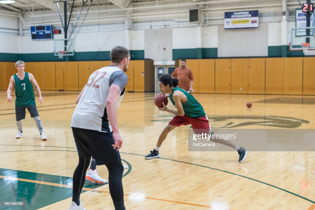 College Basketball Practice : Stock Photo