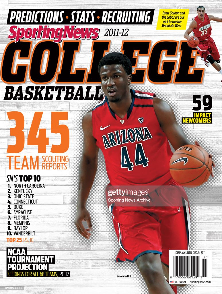 abc9916289a NCAA Basketball Cover - Arizona Wildcats' Solomon Hill - Yearbook - August  6, 2011