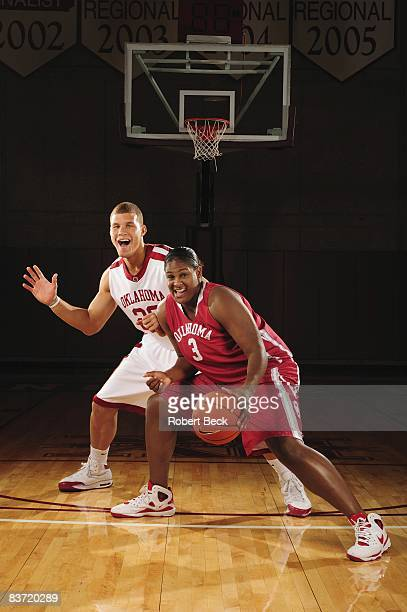 Season Preview Portrait of of Oklahoma Blake Griffin and Courtney Paris at Lloyd Noble Center Norman OK CREDIT Robert Beck