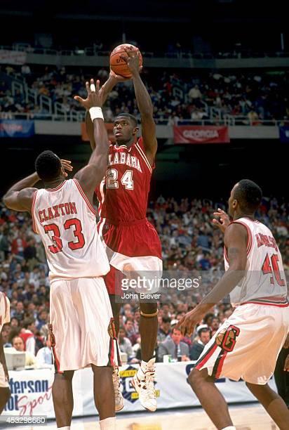 SEC Tournament Alabama Antonio McDyess in action shot vs Georgia at Georgia Dome Atlanta GA CREDIT John Biever