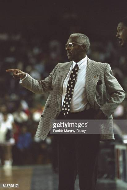 College Basketball Southern coach Ben Jobe during game vs Jackson State Jackson MS 2/12/1994
