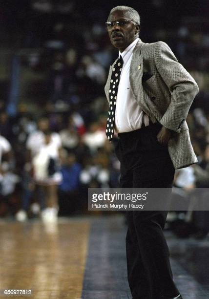 Southern coach Ben Jobe on sidelines during game vs Jackson State at Williams Assembly Center Jackson MS CREDIT Patrick MurphyRacey