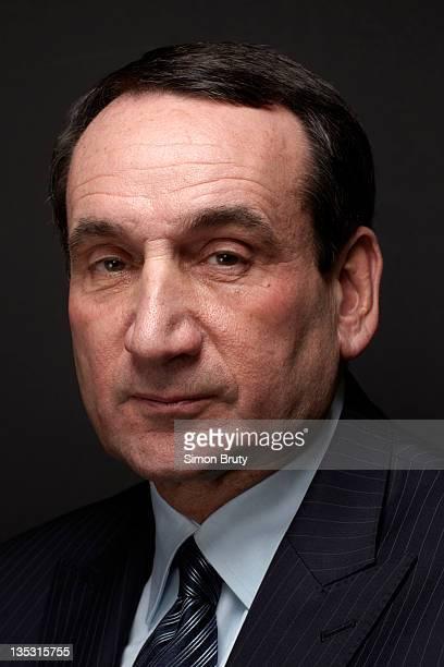 Sportsman of the Year: Closeup portrait of Duke head coach Mike Krzyzewski during photo shoot. Durham, NC 12/1/2011 CREDIT: Simon Bruty