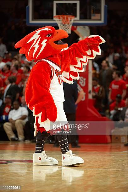 St John's Red Storm mascot Johnny the Thunderbird during game vs Georgetown at Madison Square Garden New York NY 1/3/2011CREDIT Porter Binks