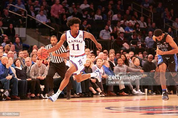 State Farm Champions Classic Kansas Josh Jackson in action vs Duke at Madison Square Garden New York NY CREDIT Erick W Rasco