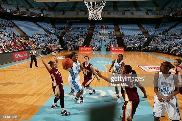 College Basketball State Farm TipOff Classic North Carolina Cetera DeGraffenreid in action layup vs Arizona State Chapel Hill NC