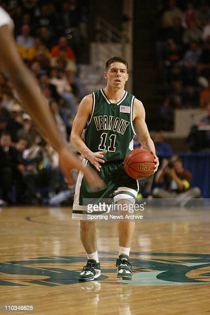 College Basketball Syracuse against Vermont TJ Sorrentine during the first round of the NCAA Tournament on March 18 2005 in Worcester Mass Vermont...