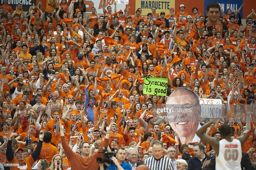 Syracuse Fans In Stands During Game Vs Villanova At Carrier