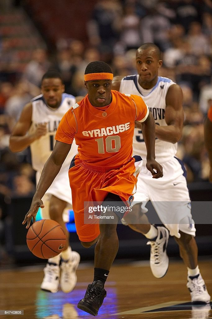 Syracuse Jonny Flynn In Action Vs Villanova Philadelphia
