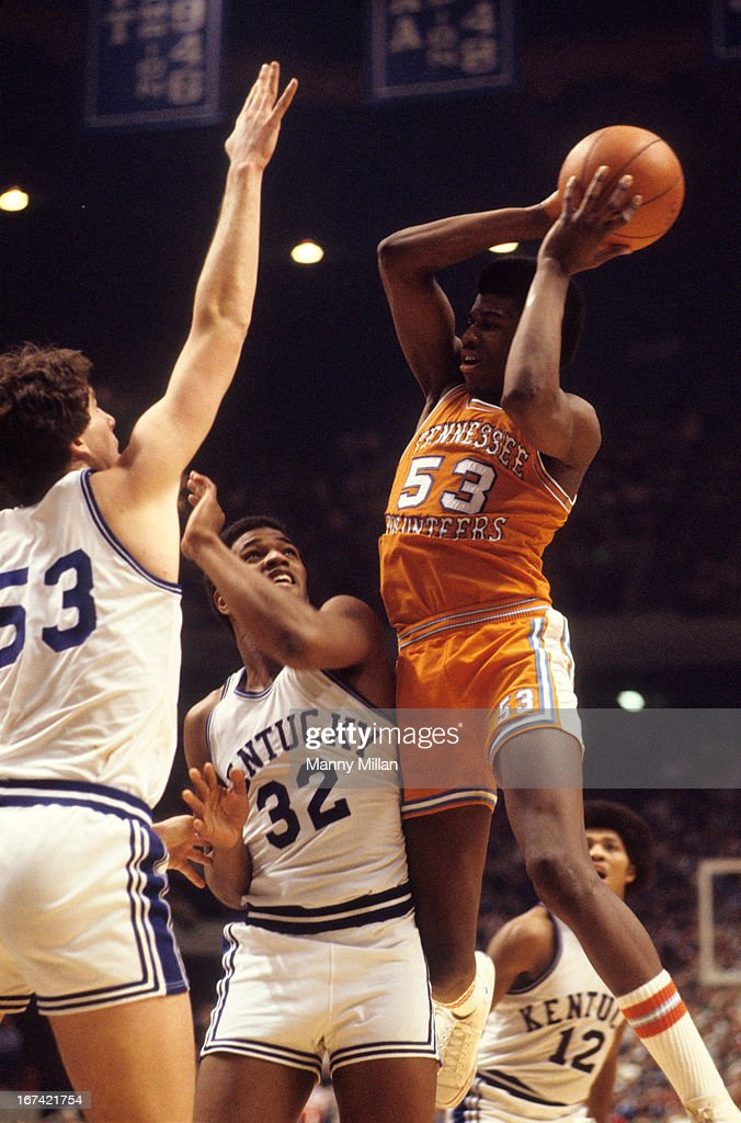 Tennessee Bernard King (53) in action vs Kentucky at Rupp Arena. Manny Millan F9 )