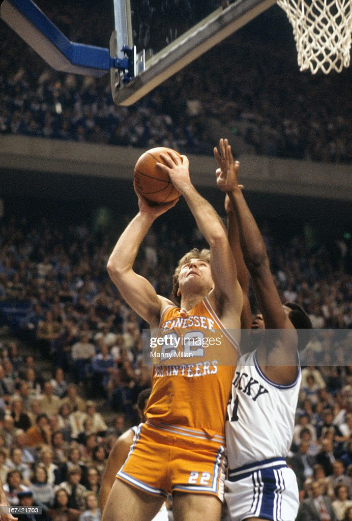 Tennessee Ernie Grunfeld (22) in action vs Kentucky at Rupp Arena. Manny Millan F6 )