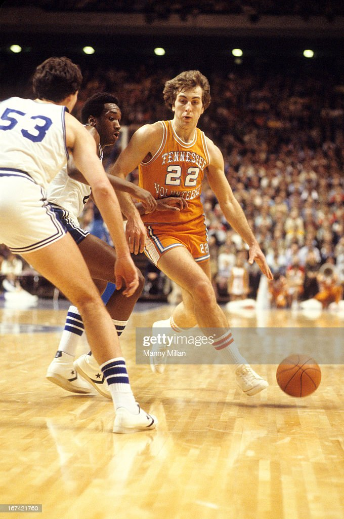 Tennessee Ernie Grunfeld (22) in action vs Kentucky at Rupp Arena. Manny Millan TK1 )