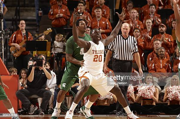 Texas Alexis Wangmere in action vs Michigan State Austin TX CREDIT Greg Nelson
