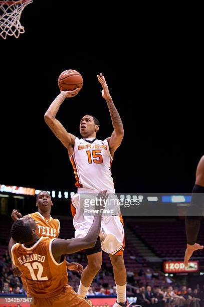 Ticket City Legends Classic Oregon State Eric Moreland in action shooting vs Texas Myck Kabongo at Izod Center East Rutherford NJ CREDIT Porter Binks