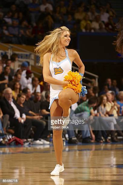 UCLA cheerleader on court during game vs Arizona State Los Angeles CA 1/17/2009 CREDIT Robert Beck
