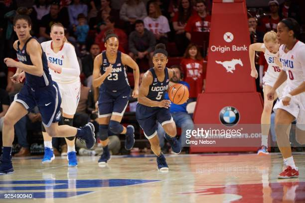 UConn Crystal Dangerfield in action vs SMU at Moody Coliseum Dallas TX CREDIT Greg Nelson