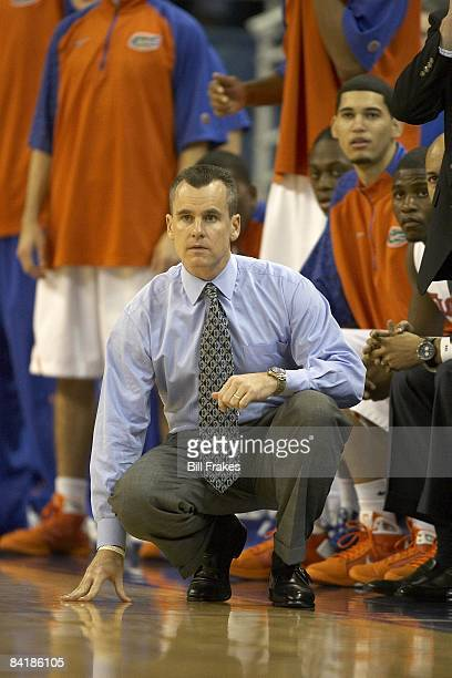 University of Florida head coach Billy Donovan courtside during game vs NC State University Gainesville FL 1/3/2009 CREDIT Bill Frakes
