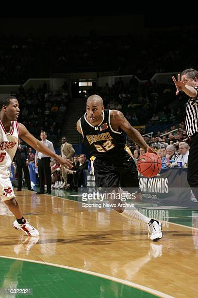 College Basketball University of WisconsinMIlwaukee Ed McCants against Alabama during the first round of the NCAA Tournament on March 17 2005 in...