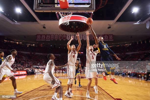 West Virginia Jevon Carter in action vs Oklahoma at Lloyd Noble Center Norman OK CREDIT Greg Nelson