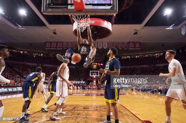 West Virginia Sagaba Konate in action dunking vs Oklahoma at Lloyd Noble Center Norman OK CREDIT Greg Nelson