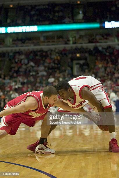 College Basketball Wisconsin Alando Tucker against Ohio State Tony Stockman during the Big 10 Tournament at the United Center in Chicago Ill March 11...