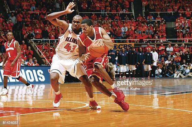 College Basketball Wisconsin Alando Tucker in action vs Illinois Roger Powell Jr Champaign IL 2/12/2005