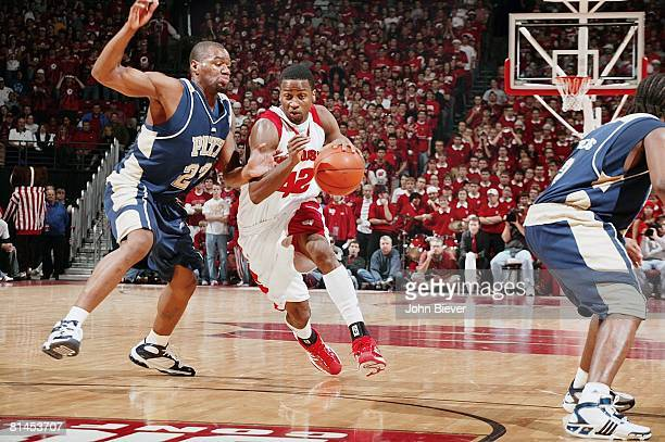 College Basketball Wisconsin Alando Tucker in action vs Pittsburgh Madison WI