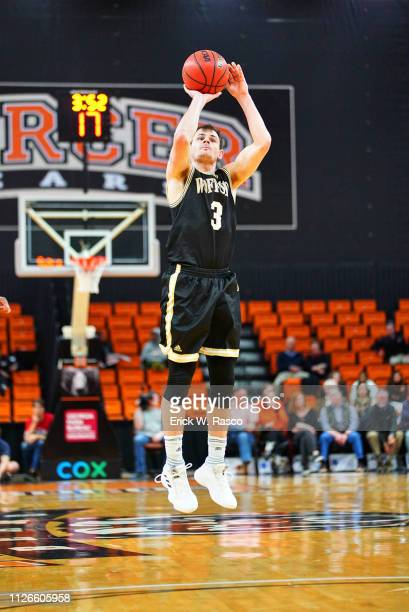 Wofford Fletcher Magee in action shot vs Mercer at Hawkins Arena Macon GA CREDIT Erick W Rasco