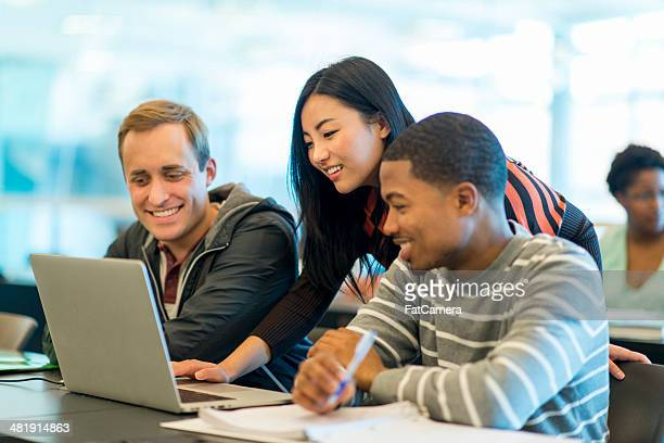 college classroom - small group of people stock pictures, royalty-free photos & images