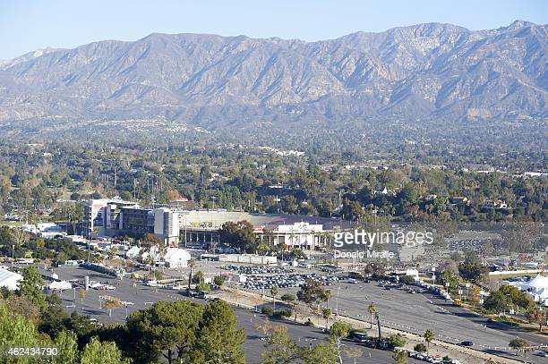 101st Rose Bowl Scenic view of San Gabriel Mountains of Angeles National Forest before College Football Playoff Semifinal between Oregon and Florida...