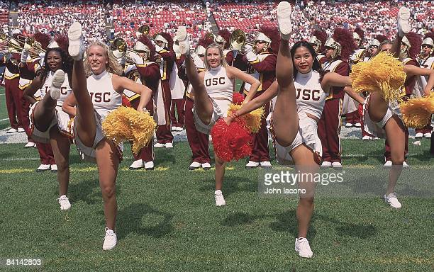 2000 Kickoff Classic USC 'Song Girls' cheerleaders on sidelines during game vs Penn State East Rutherford NJ 8/27/2000 CREDIT John Iacono