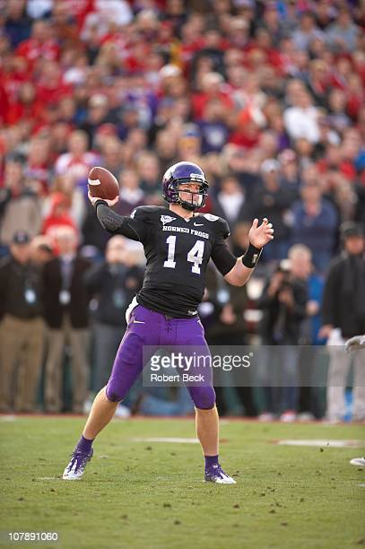 97th Rose Bowl Texas Christian QB Andy Dalton in action pass vs Wisconsin at Rose Bowl StadiumPasadena CA 1/1/2011CREDIT Robert Beck