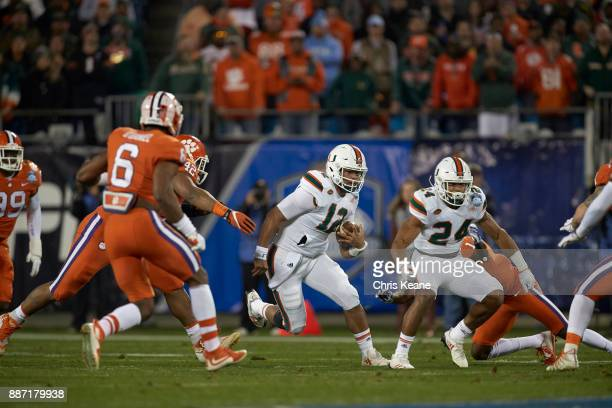 ACC Championship Miami QB Malik Rosier in action vs Clemson at Bank of America Stadium Charlotte NC CREDIT Chris Keane