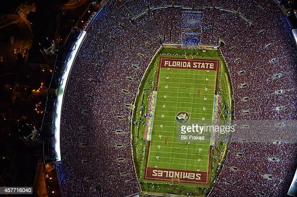 Aerial view of field taken from Goodyear blimp above Florida State vs Notre Dame game at Doak Campbell Stadium Tallahassee FL CREDIT Bill Frakes