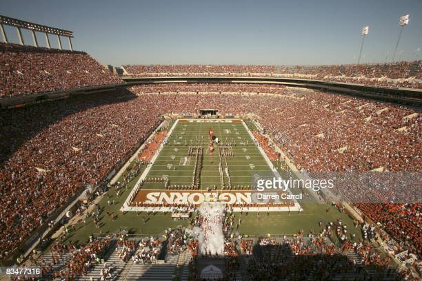 Aerial view of Texas Memorial Stadium with 98518 fans in attendance during Texas vs Oklahoma State game Austin TX CREDIT Darren Carroll