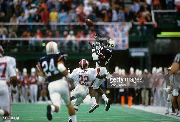 Alabama Gene Jelks in action on defense vs Auburn Wirth Campbell at Legion Field Penalty called on play resulting in 44yard catch Birmingham AL...
