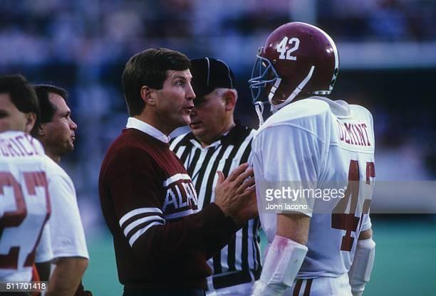 Alabama head coach Bill Curry on sidelines with team during game vs Auburn at Legion Field Birmingham AL CREDIT John Iacono