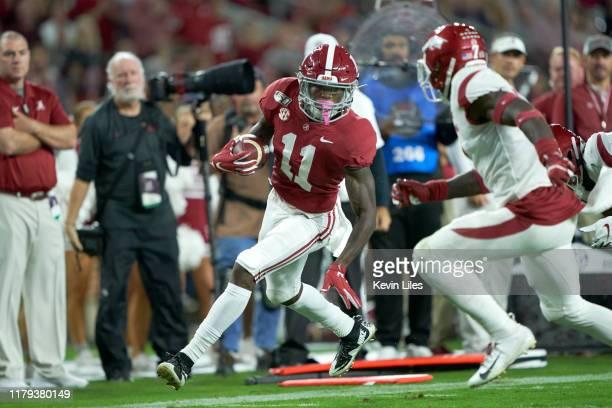 Alabama Henry Ruggs III in action vs Arkansas at BryantDenny Stadium Tuscaloosa AL CREDIT Kevin D Liles