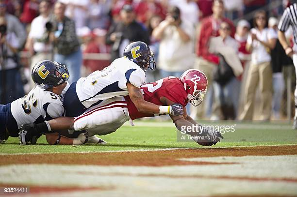 Alabama Mark Ingram in action diving for touchdown vs Chattanooga Tuscaloosa AL CREDIT Al Tielemans