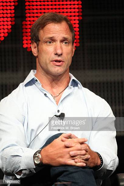 ESPN college football analyst Chris Spielman speaks during the ESPN portion of the 2011 Summer TCA Tour at the Beverly Hilton on July 27 2011 in...