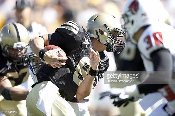 Army QB Trent Steelman in action vs Ball State. West Point, NY 9/19/2009 CREDIT: Damian Strohmeyer