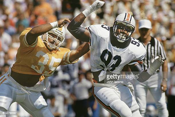 College Football Auburn Aundray Bruce in action vs Tennessee Knoxville TN 9/26/1987