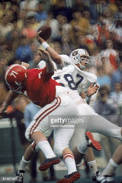 College Football Auburn QB Pat Sullivan in action making pass vs Alabama Birmingham AL