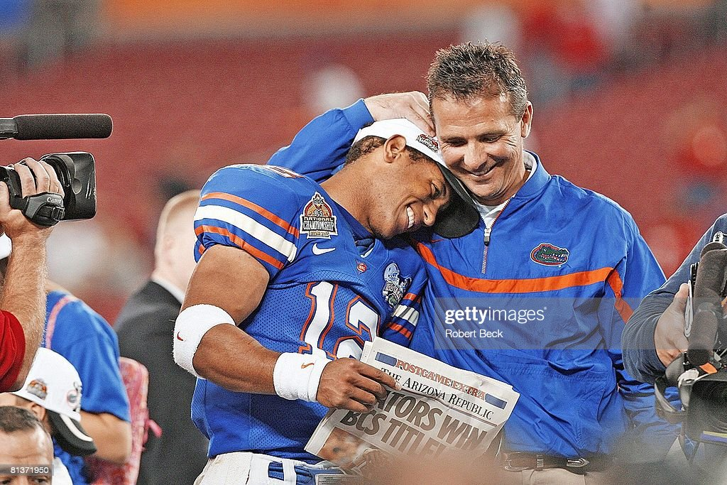 Florida Coach Urban Meyer And QB Chris Leak 2007 BCS National Championship Game News