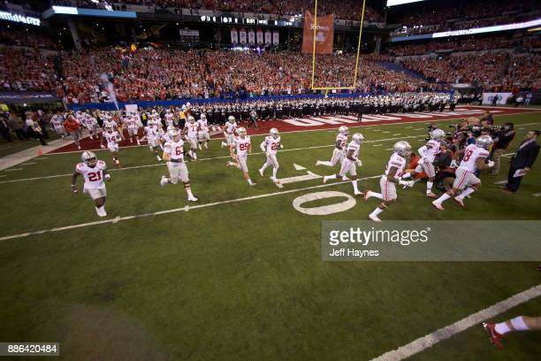 Big 10 Championship Ohio State players taking field before game vs Wisconsin at Lucas Oil Stadium Indianapolis IN CREDIT Jeff Haynes