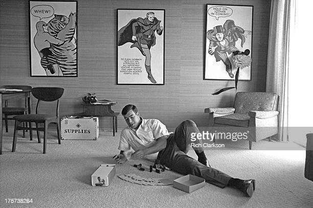Casual portrait of Colorado College fullback Steve Sabol during photo shoot at his home Colorado Springs CO CREDIT Rich Clarkson