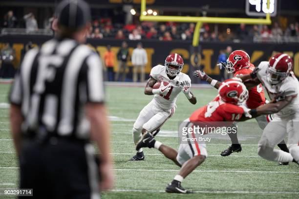 CFP National Championship Alabama Henry Ruggs III in action rushing vs Georgia at MercedesBenz Stadium Atlanta GA CREDIT Simon Bruty