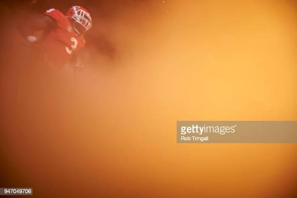 CFP National Championship Georgia Zamir White coming out of smokey tunnel vs Alabama at MercedesBenz Stadium Atlanta GA CREDIT Rob Tringali